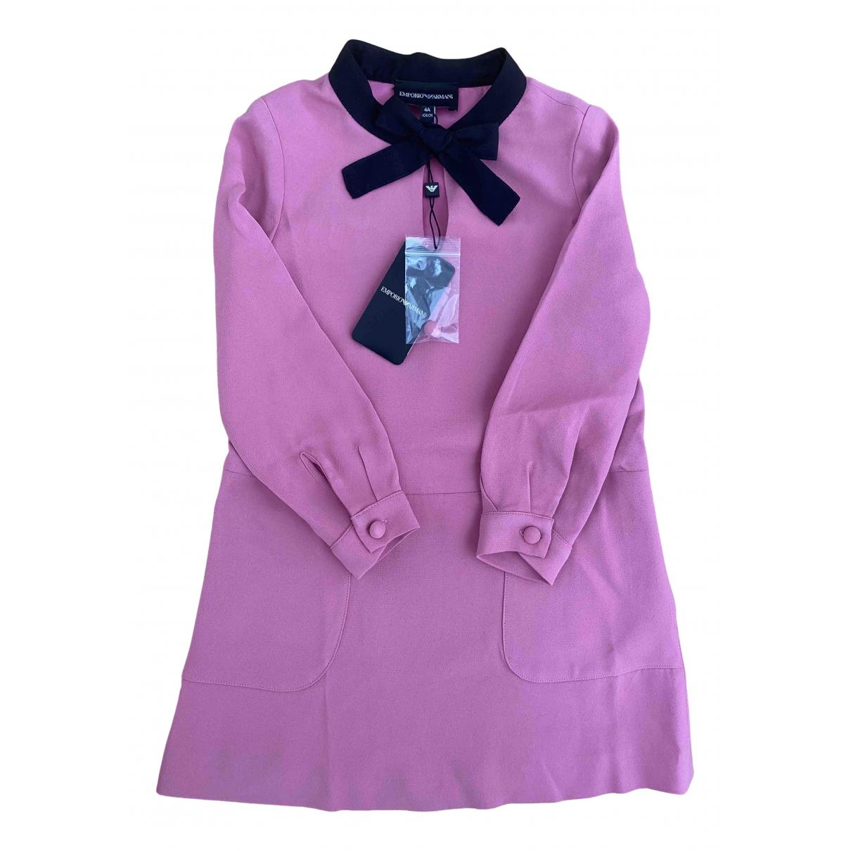 Emporio Armani - Robe    pour enfant - rose