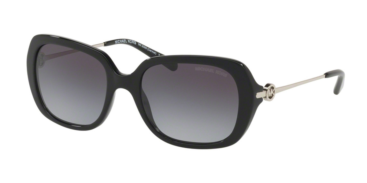 Michael Kors MK2065F CARMEL Asian Fit 30058G Women's Sunglasses Black Size 54