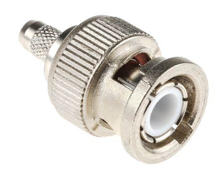Telegartner Straight 50Ω Cable Mount BNC Connector, Plug, Nickel, Crimp Termination, RG58 C/U (50)