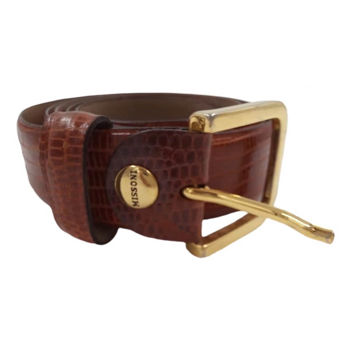 Missoni \N Brown Lizard belt for Men 100 cm