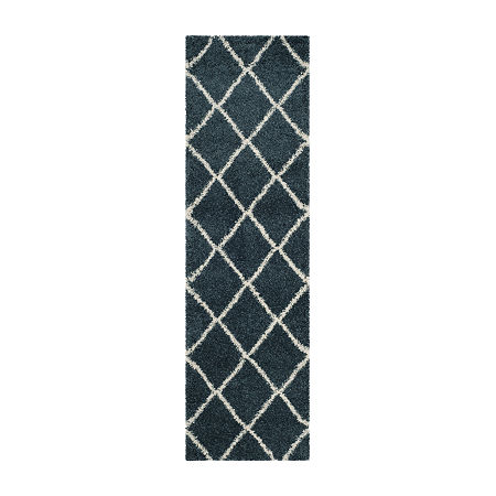Safavieh Hudson Shag Collection Salome Geometric Runner Rug, One Size , Multiple Colors