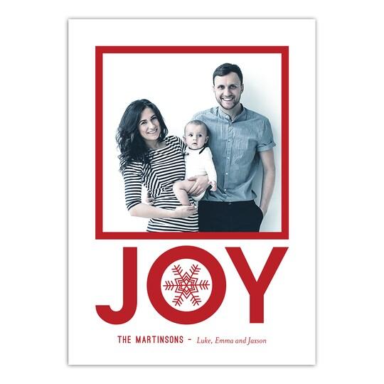 20 Pack of Gartner Studios® Personalized Modern Joy Christmas Flat Photo Card in Red | 5