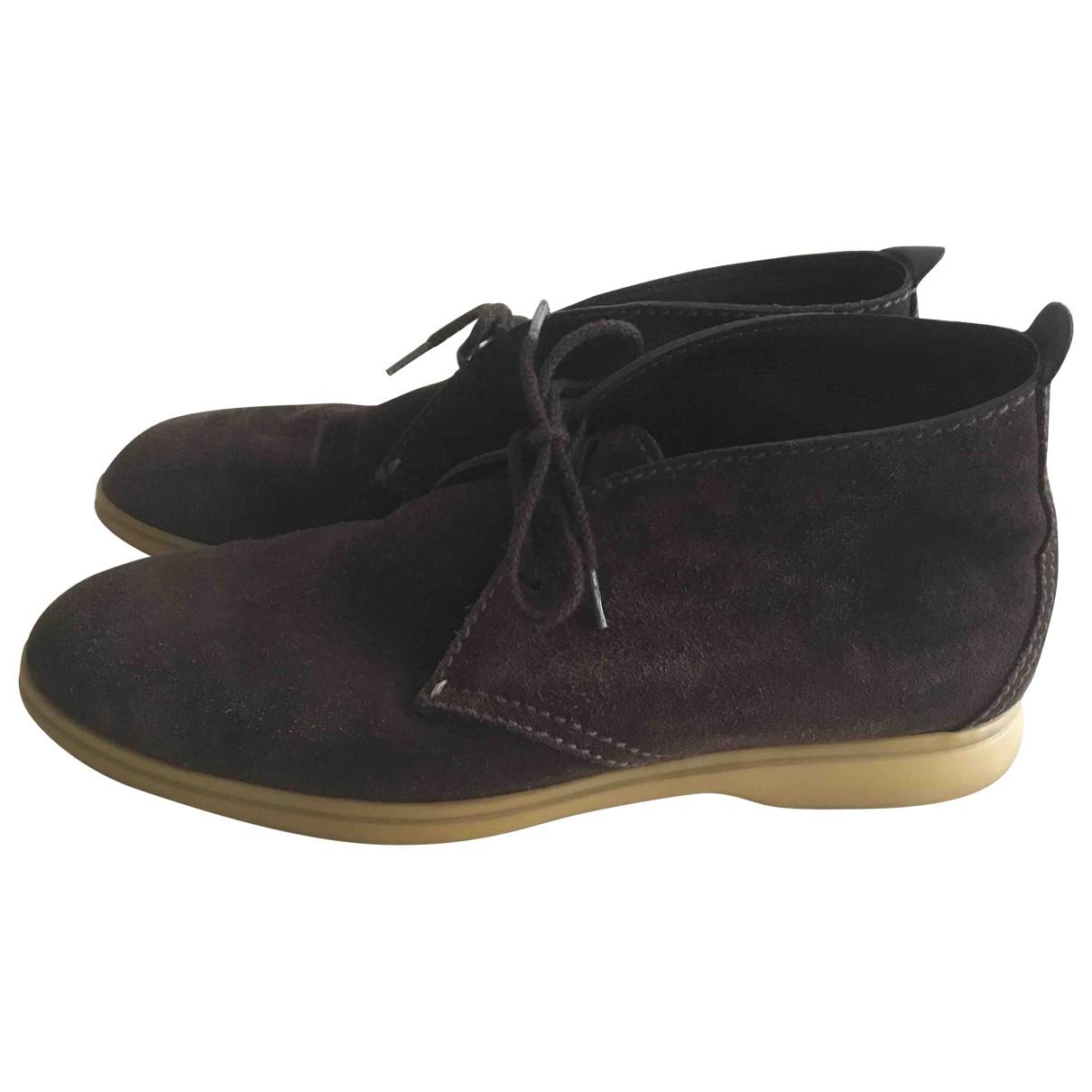 Loro Piana - Bottes.Boots   pour homme en suede - marron