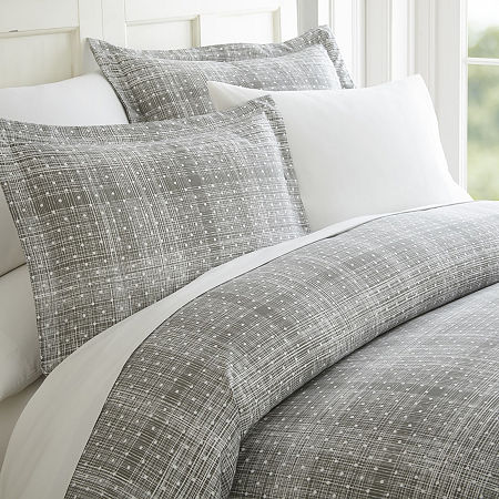 Ienjoy Home Casual Comfort Premium Ultra Soft Polka Dot Pattern Duvet Cover Set, One Size , Gray