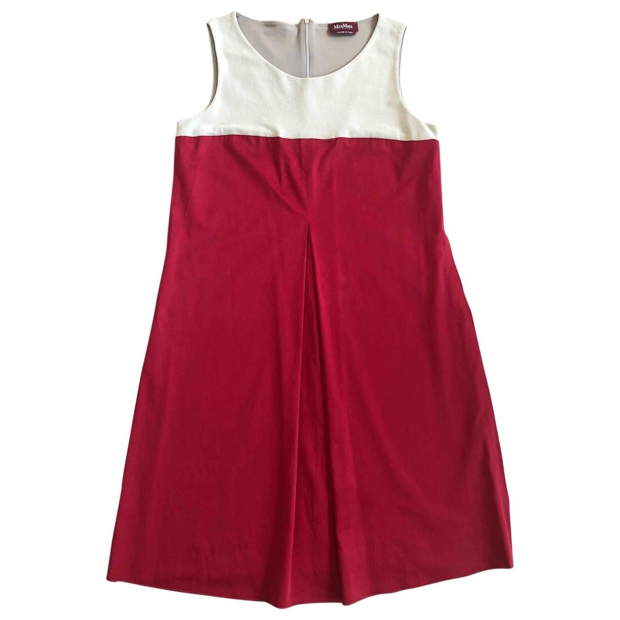 Max Mara Studio \N Red Cotton - elasthane dress for Women 48 IT