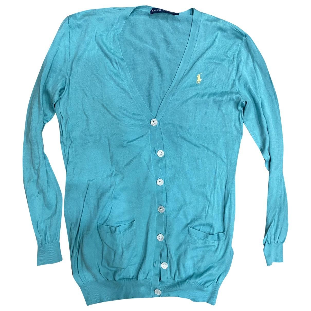 Ralph Lauren - Pull   pour femme en coton - turquoise
