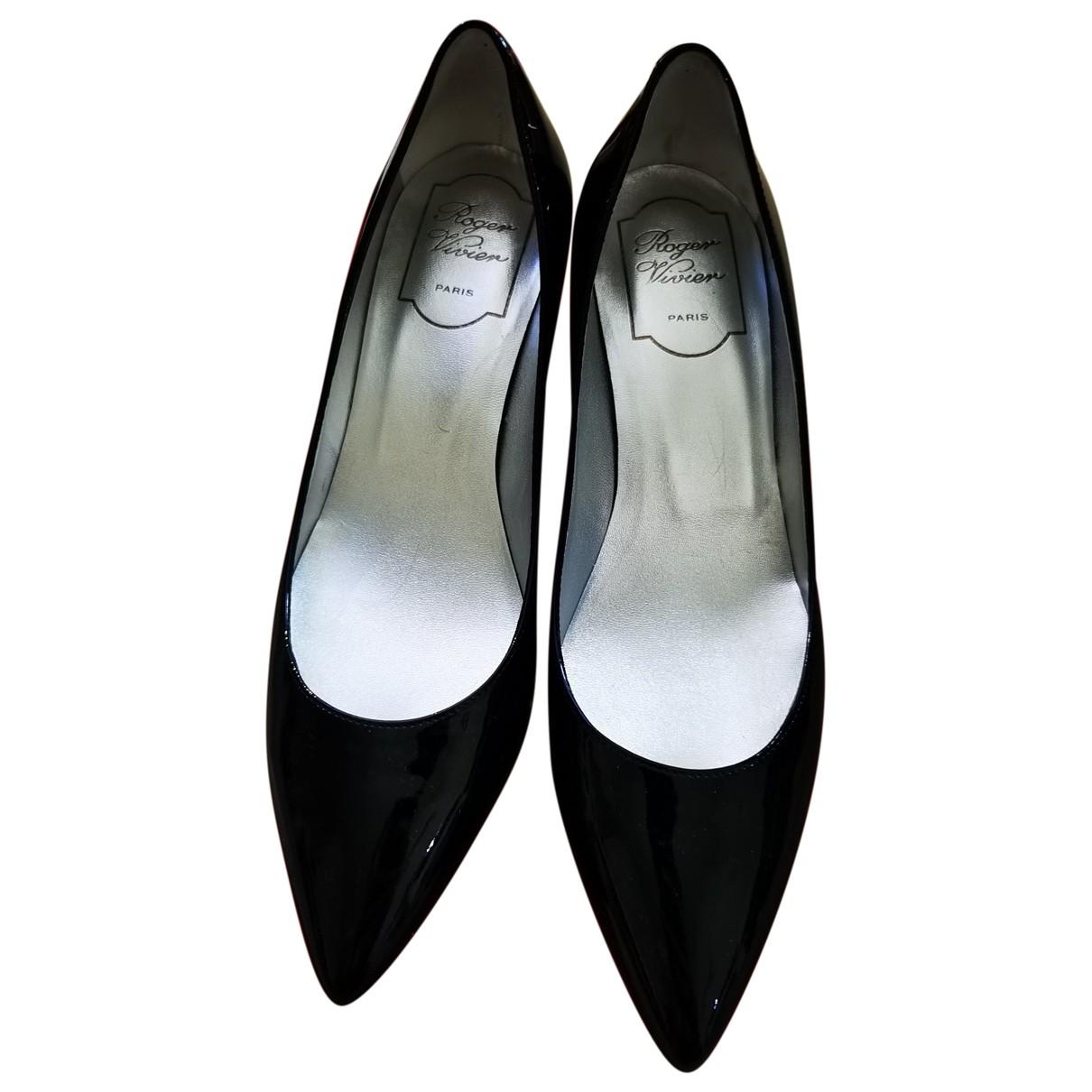 Roger Vivier \N Black Patent leather Heels for Women 36 IT