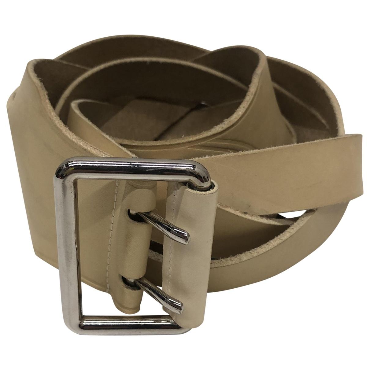 Balenciaga \N Beige Leather belt for Women XS International