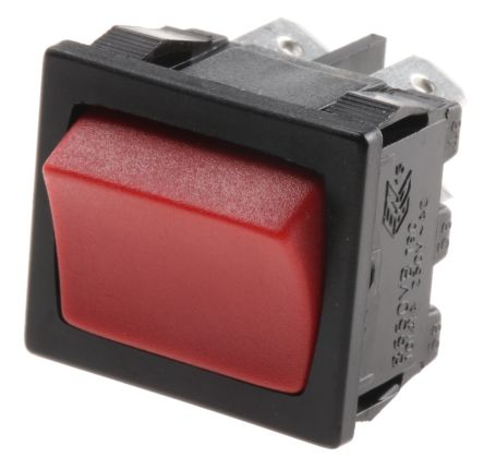 Arcolectric Double Pole Single Throw (DPST), On-Off Rocker Switch Panel Mount