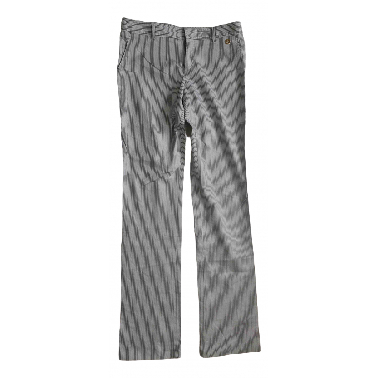 Gucci \N Blue Cotton Trousers for Women 44 IT