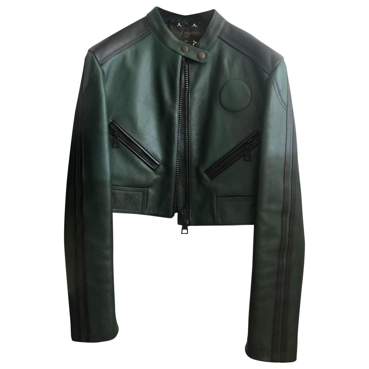 Louis Vuitton - Blouson   pour femme en cuir - vert