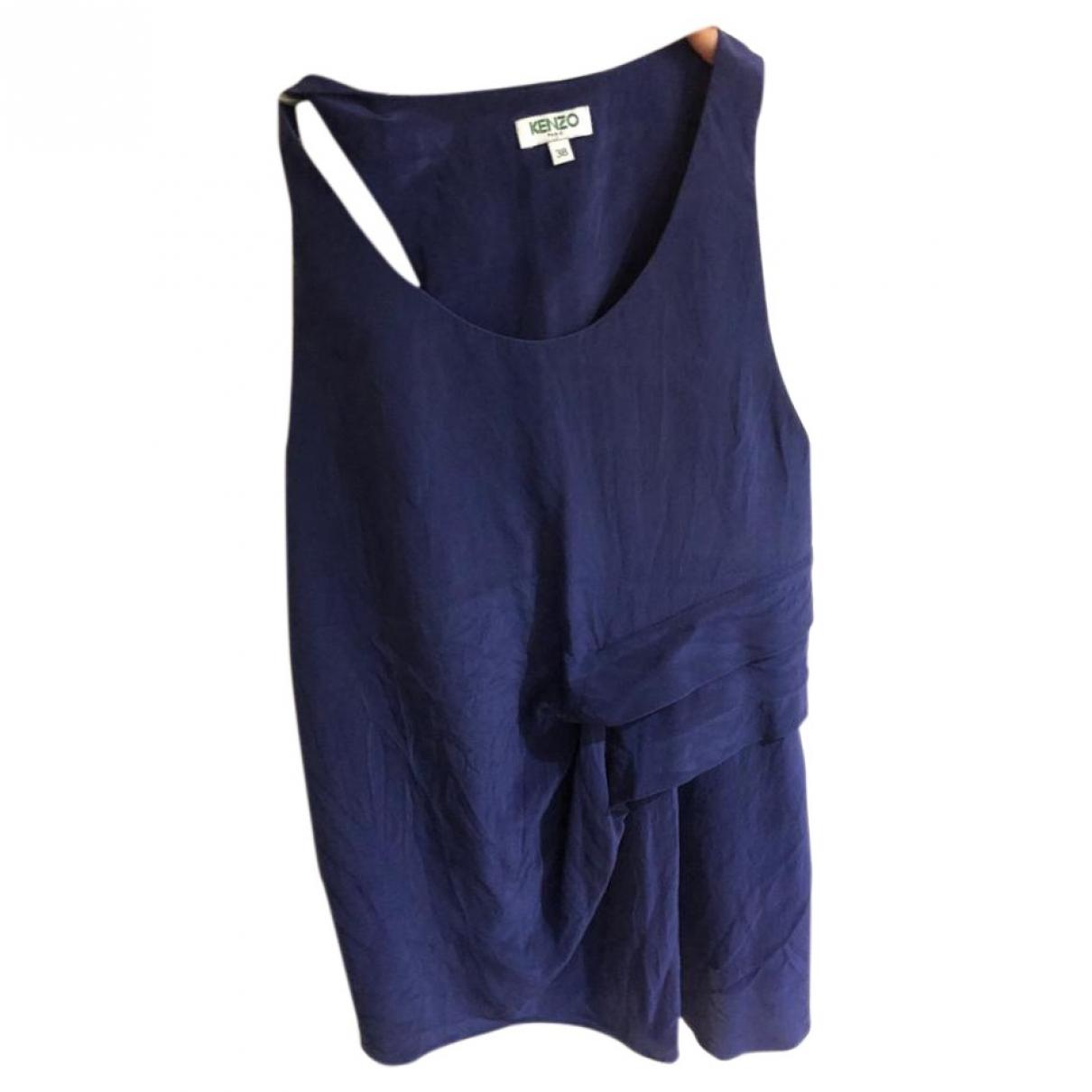 Kenzo \N Blue Silk  top for Women 38 FR