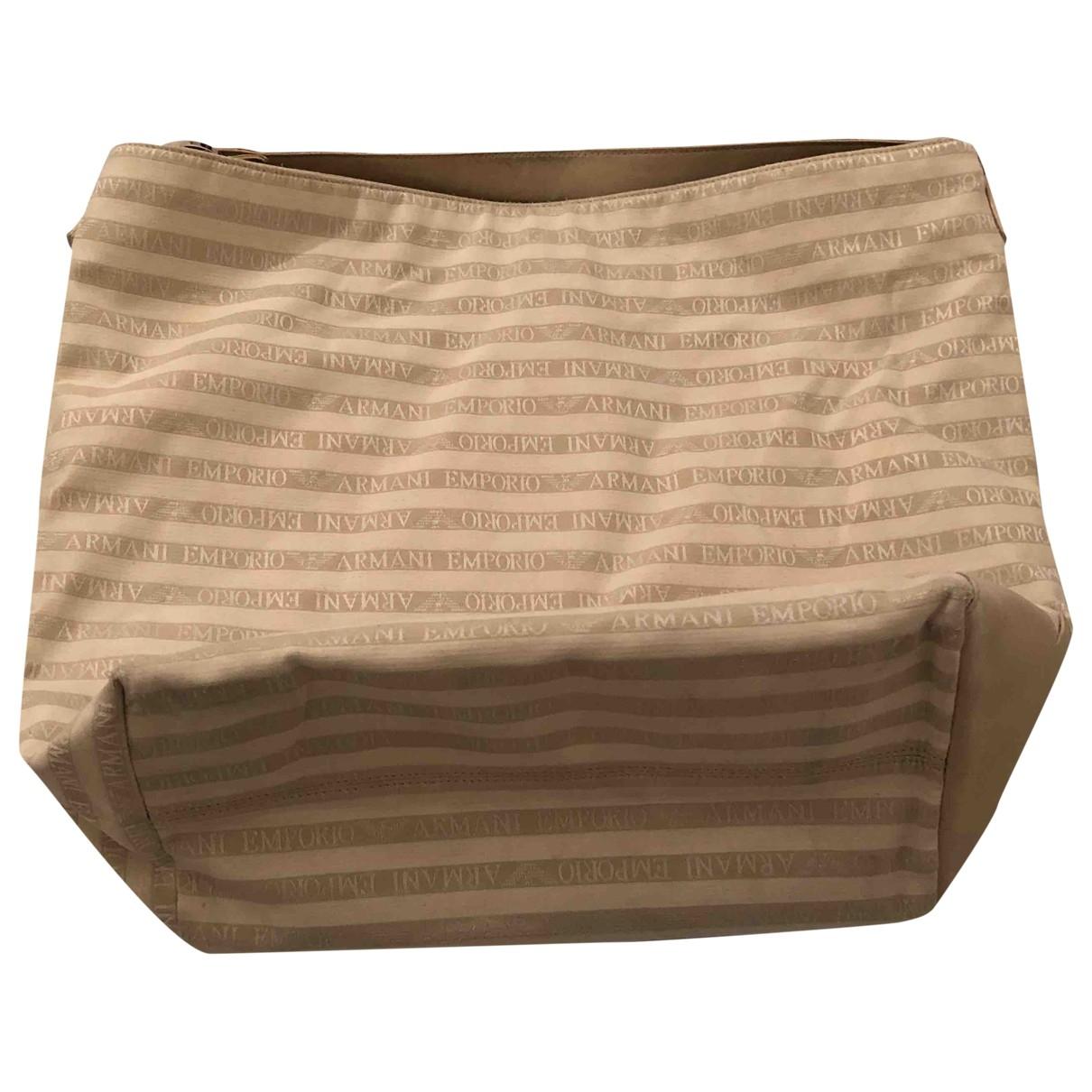 Emporio Armani \N Beige Cotton handbag for Women \N