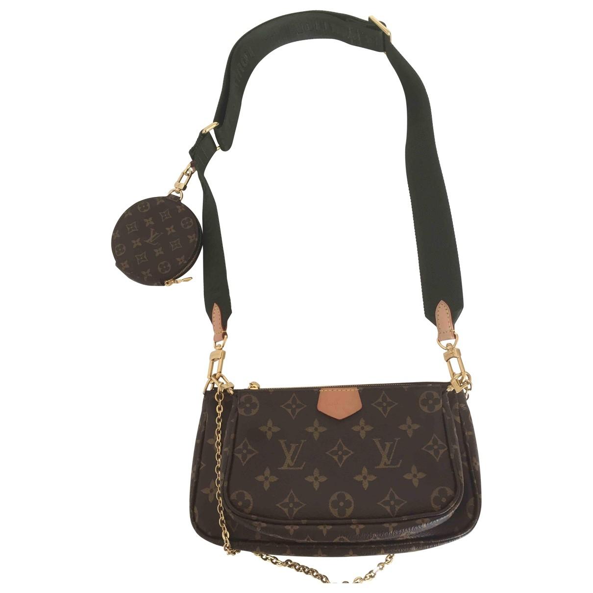 Louis Vuitton Multi Pochette Access Handtasche in  Braun Leinen