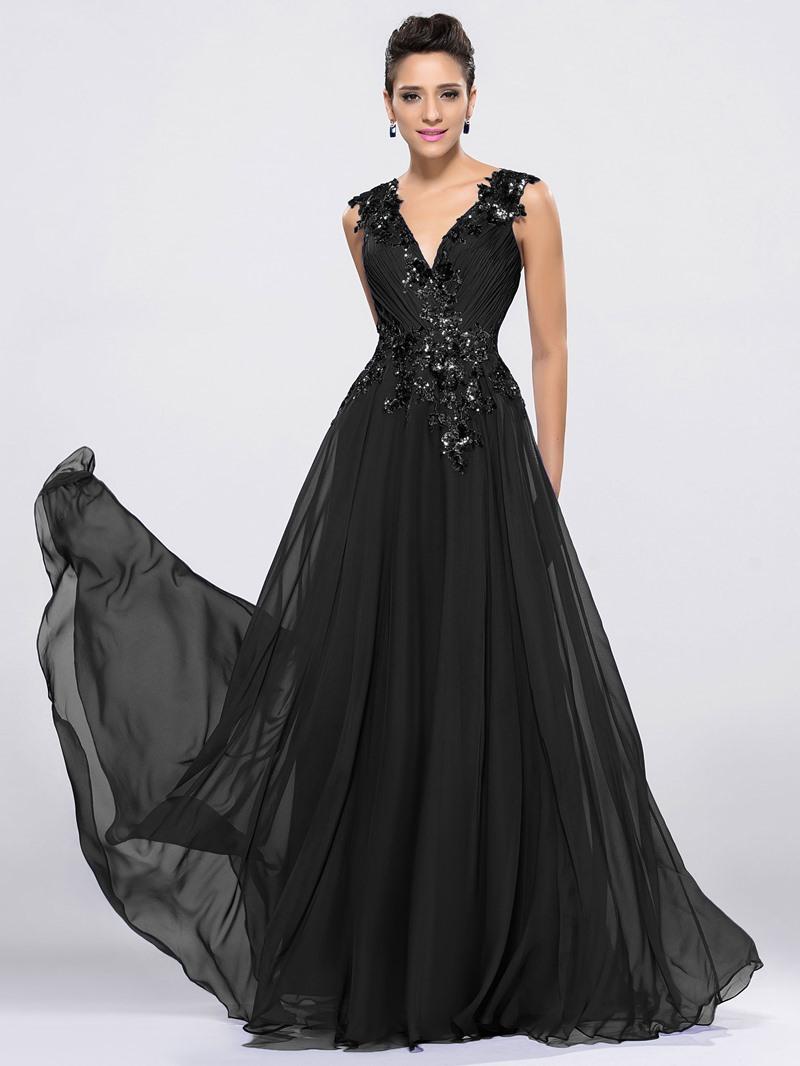 Ericdress Straps Sequins Appliques Prom Dress