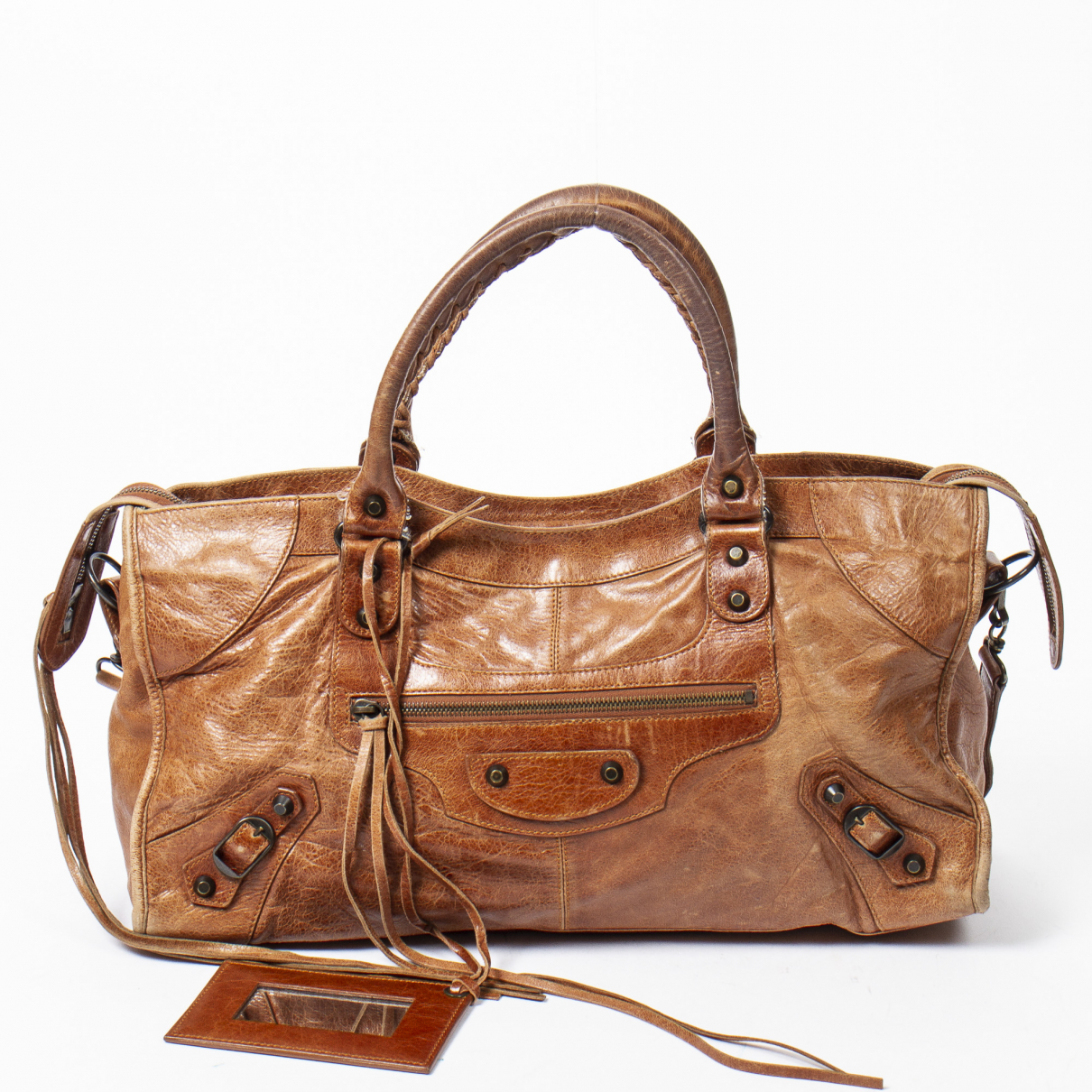 Balenciaga - Sac a main Part Time pour femme en cuir - marron