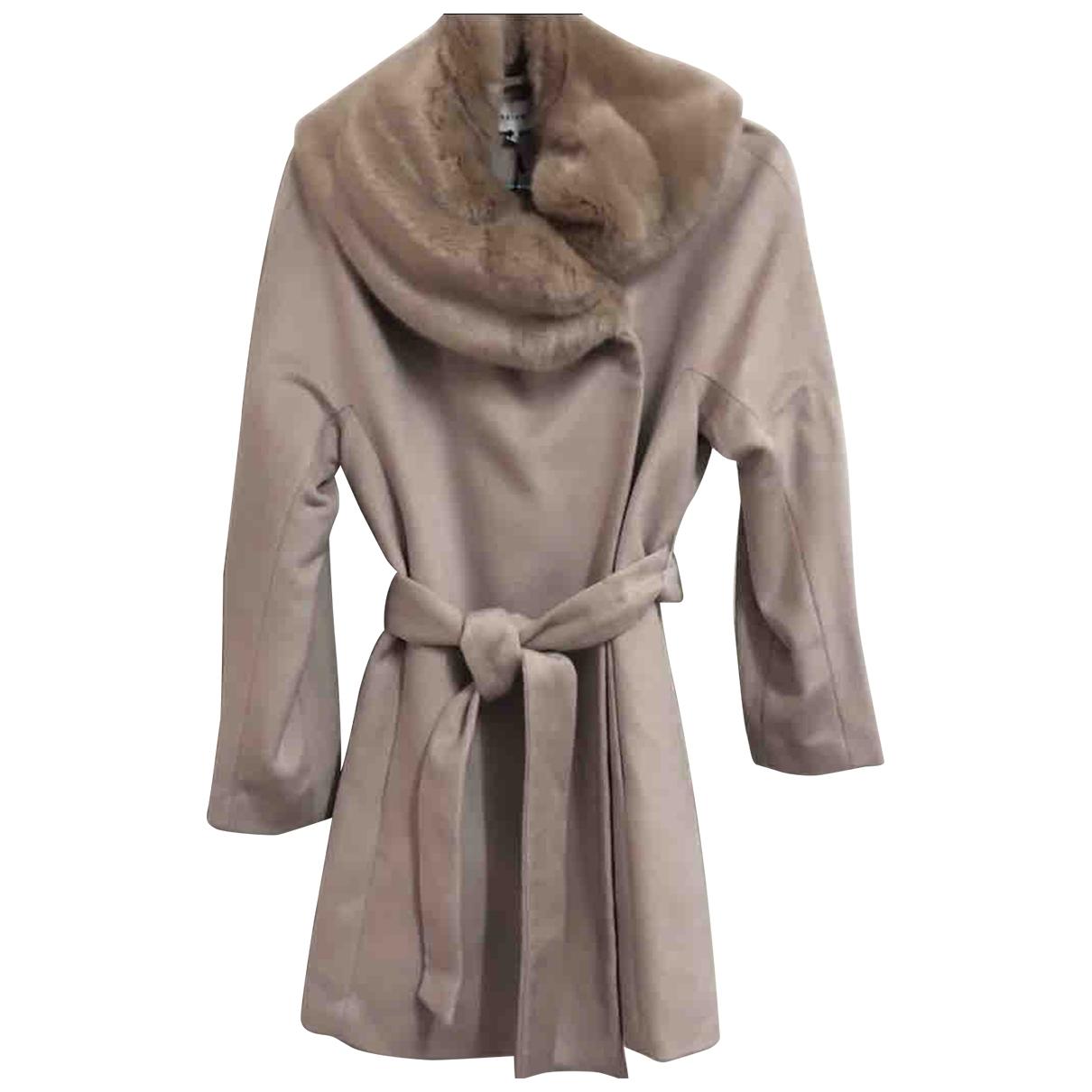 Reiss - Manteau   pour femme en laine - rose
