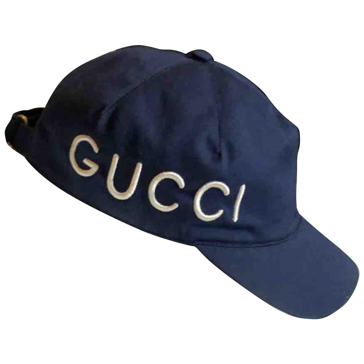 Gucci \N Hut, Muetzen in  Marine Baumwolle
