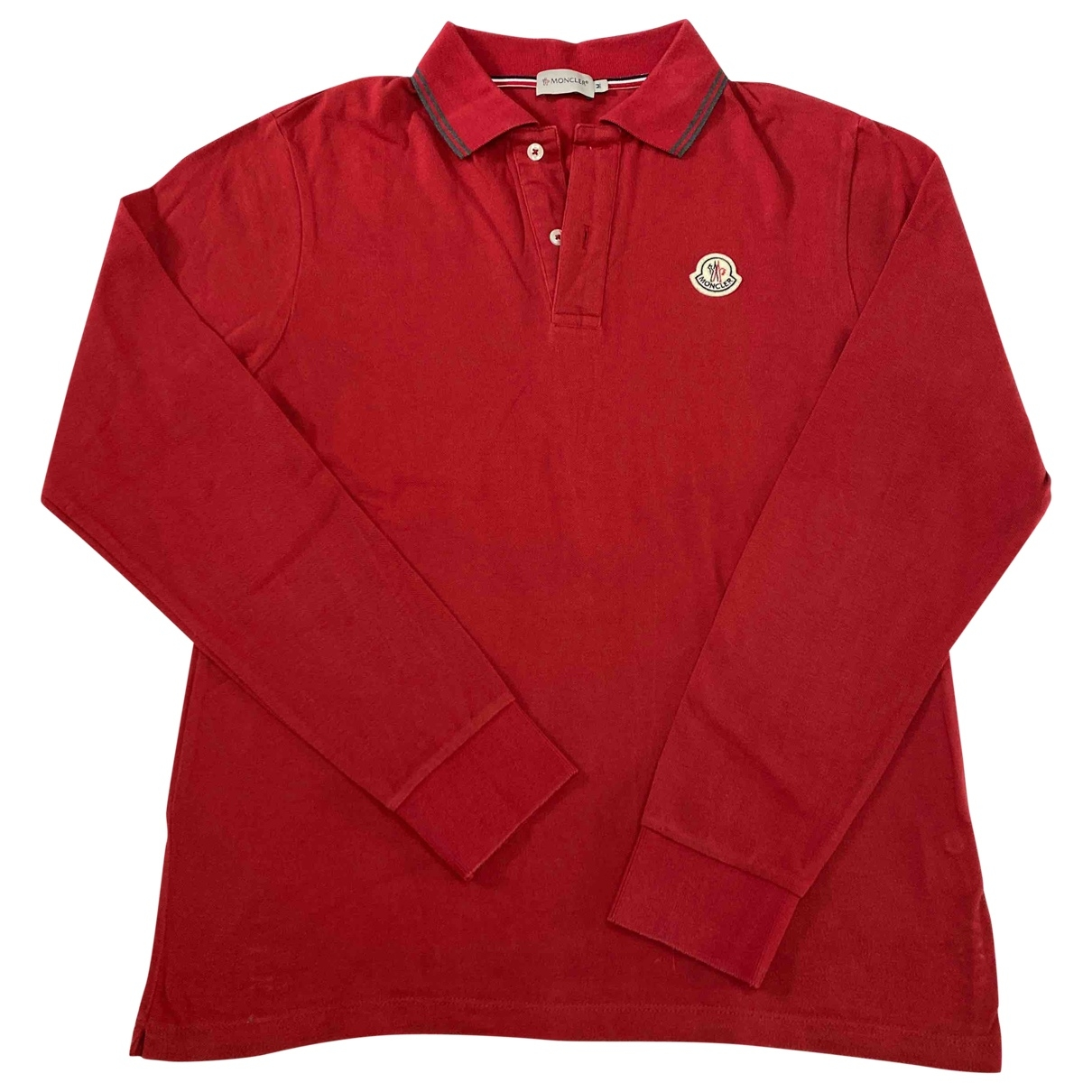 Polo en Algodon Rojo Moncler