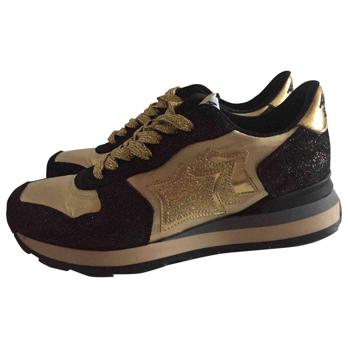 Atlantic Stars \N Gold Glitter Trainers for Women 37 EU