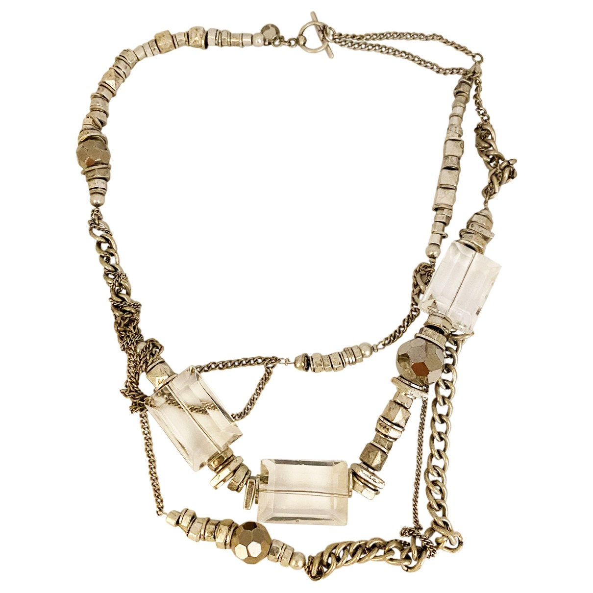 All Saints N Silver Metal necklace for Women N