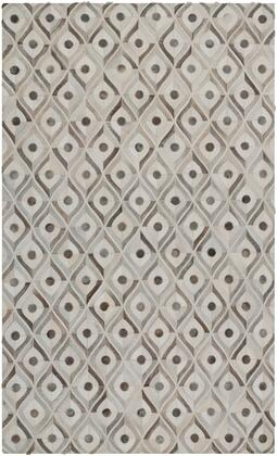 Appalachian Collection APP1003-23 Rectangle 2 x 3 Area Rug  Hand Crafted with Hair On Hide Material in Grey and Neutral
