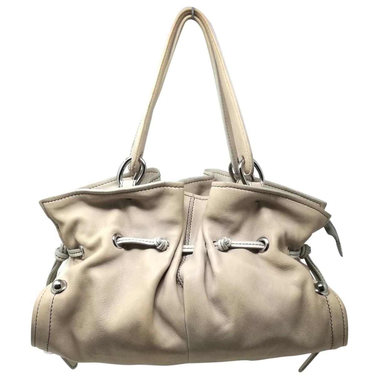 Coccinelle \N Beige Leather handbag for Women \N