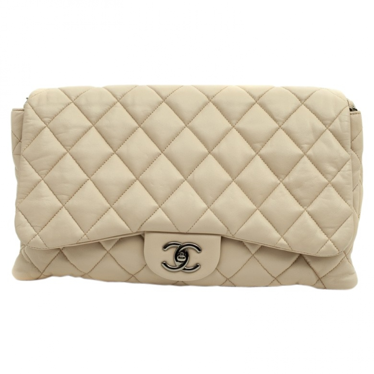 Chanel Timeless/Classique Ecru Leather handbag for Women \N