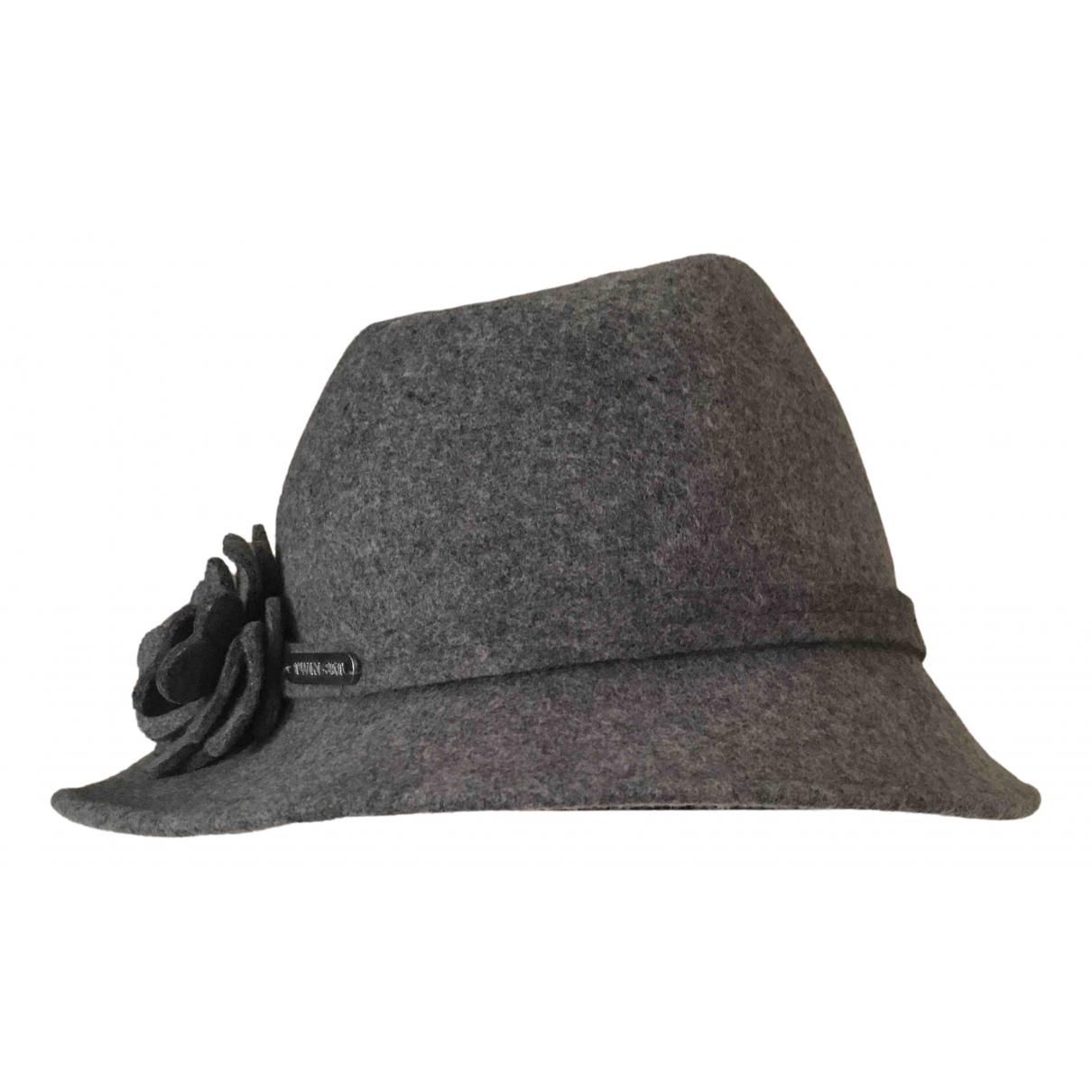 Twin Set N Grey Wool hat for Women M International