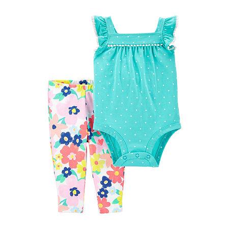 Carter's Baby Girls 2-pc. Bodysuit Set, 6 Months , Blue
