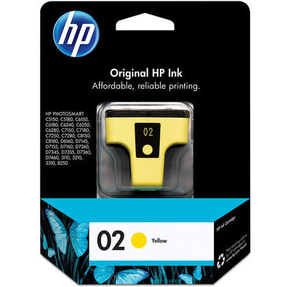 HP 02 C8773WN Original Yellow Ink Cartridge