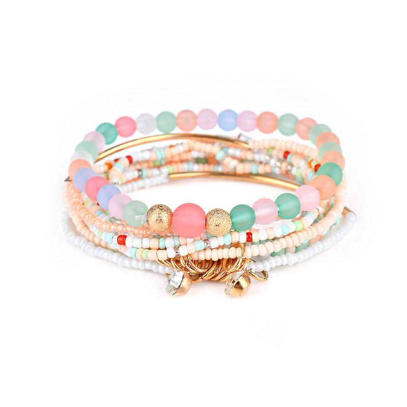Womens Bohemian Bracelet Rhinestone Beads Multilayer Bracelets Gift for Women