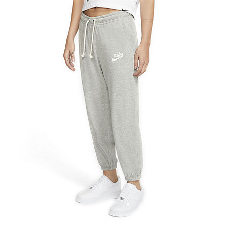 Nike Mid Rise Workout Capris, Large , Gray