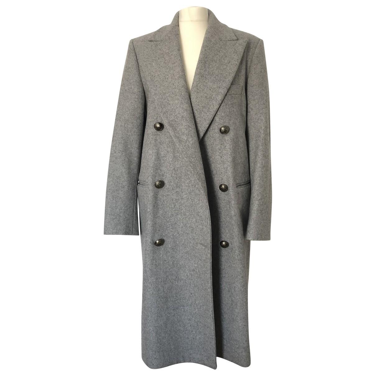 Msgm \N Maentel in  Grau Wolle