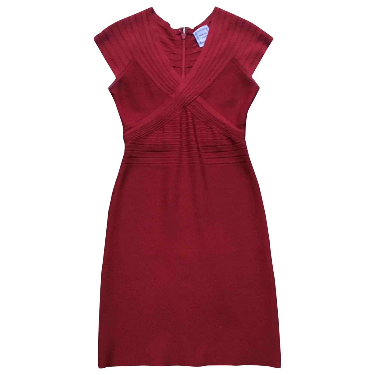 Herve Leger \N Kleid in  Rot Synthetik