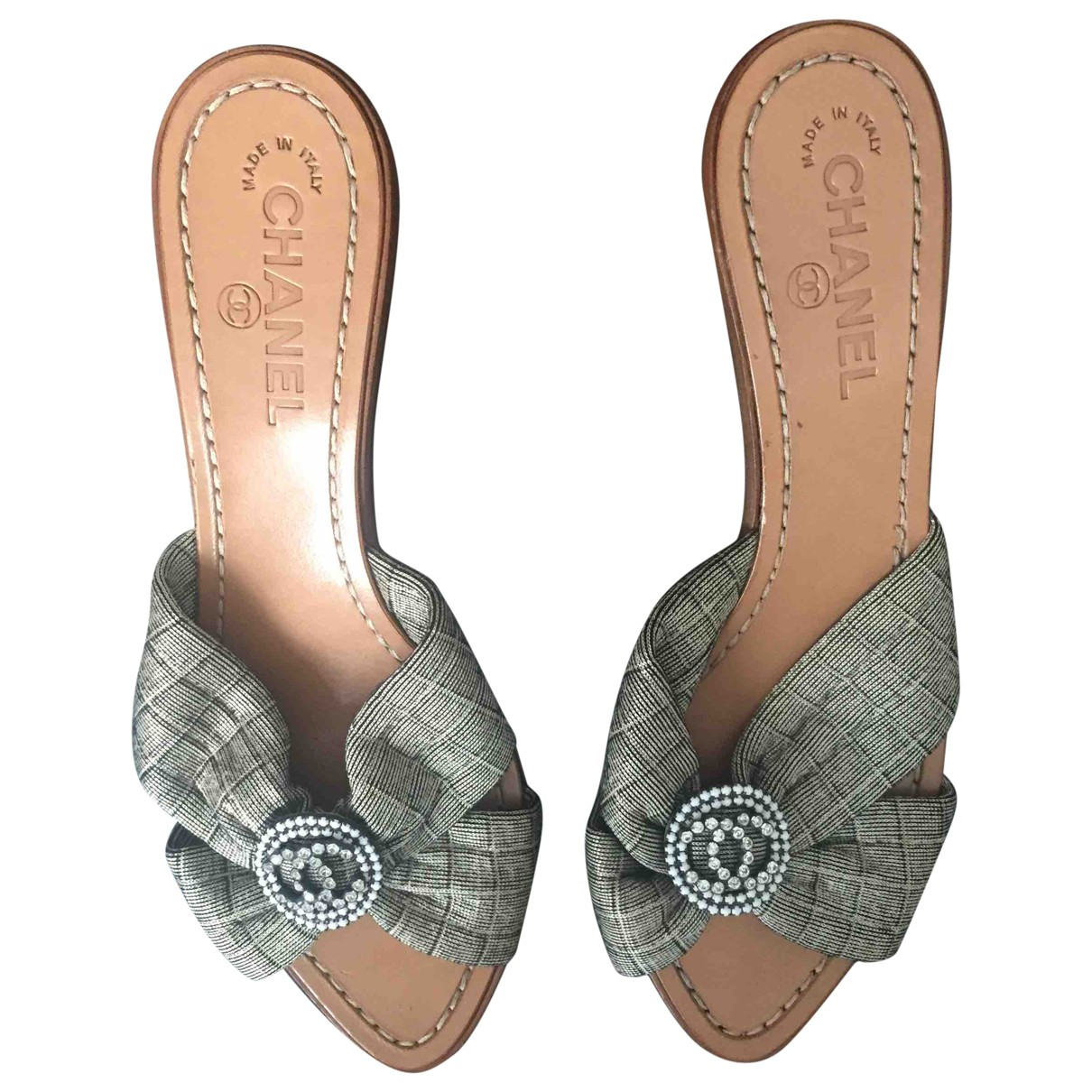Chanel - Sandales   pour femme en cuir