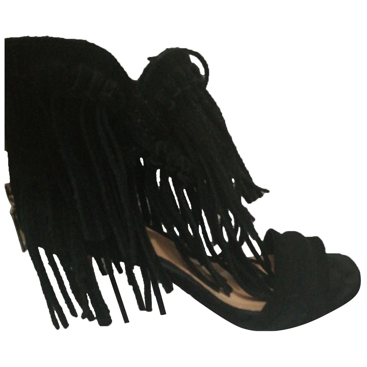 Schutz - Escarpins   pour femme en cuir - noir