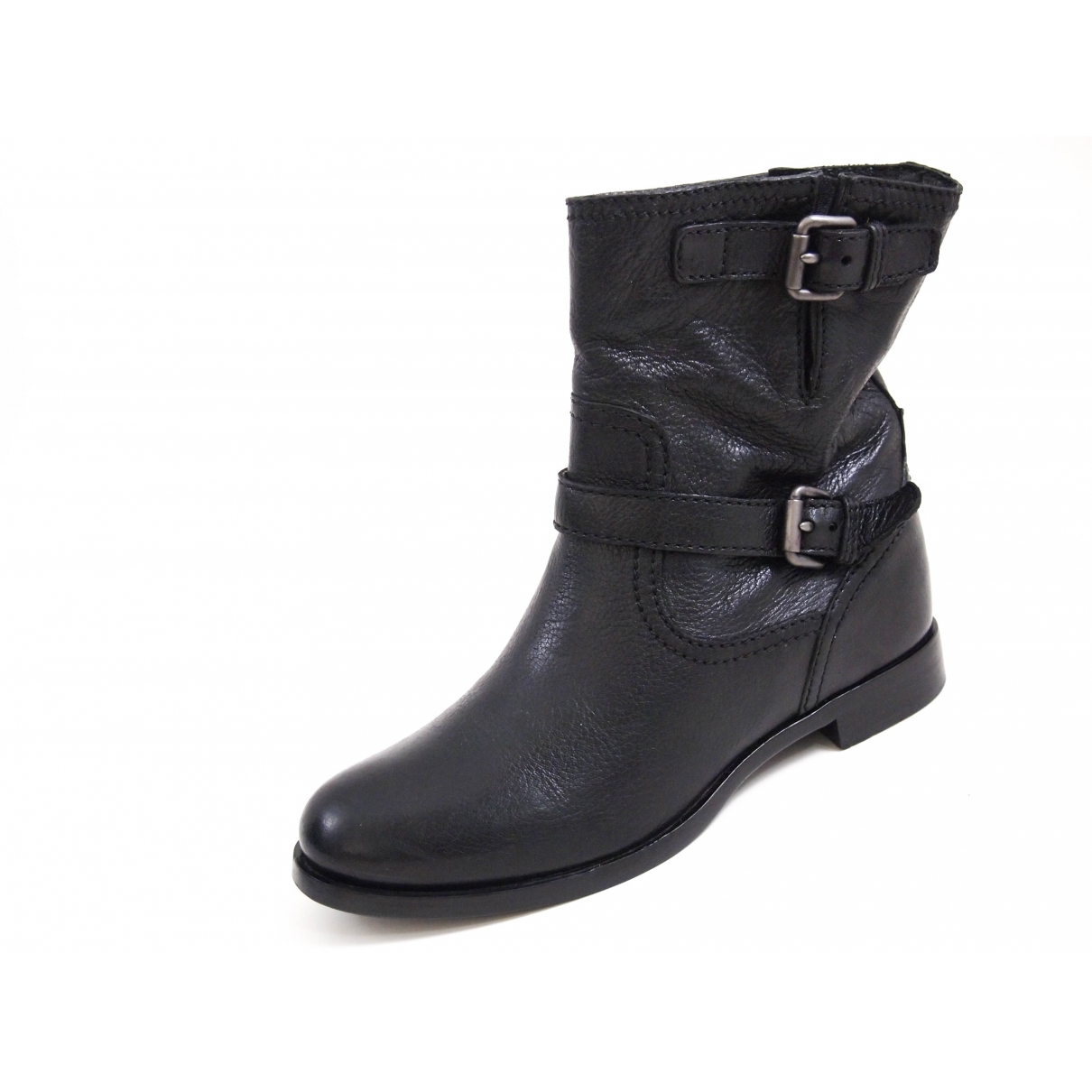 Prada \N Black Leather Ankle boots for Women 40 EU