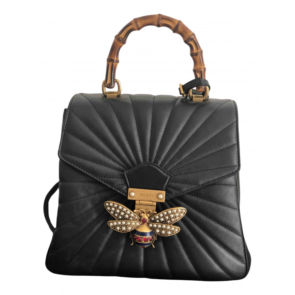 Gucci - Sac a dos Queen Margaret pour femme en cuir - noir