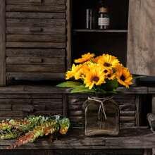 1 Strauss Kuenstliche Sonnenblume