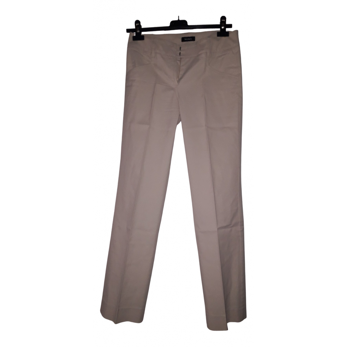 Max & Co \N Beige Cotton Trousers for Women 38 IT