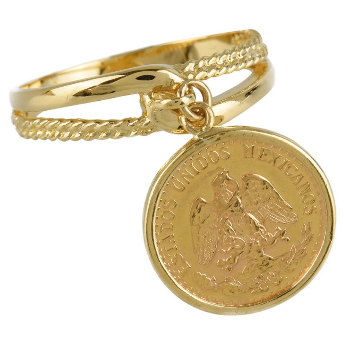 - Bague   pour femme en plaque or - dore