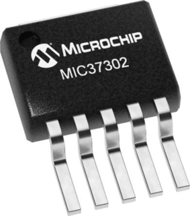 Microchip MIC37302WR-TR, LDO Voltage Regulator Controller, 3A Adjustable, 5.5 V, ±2% 5-Pin, SPAK (750)