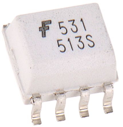 ON Semiconductor , HCPL0531R2 DC Input Transistor Output Dual Optocoupler, Surface Mount, 8-Pin SOIC (2)