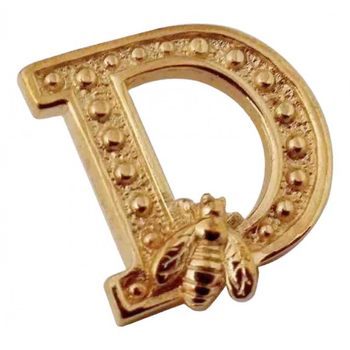 Dior Monogramme Brosche in  Gold Vergoldet