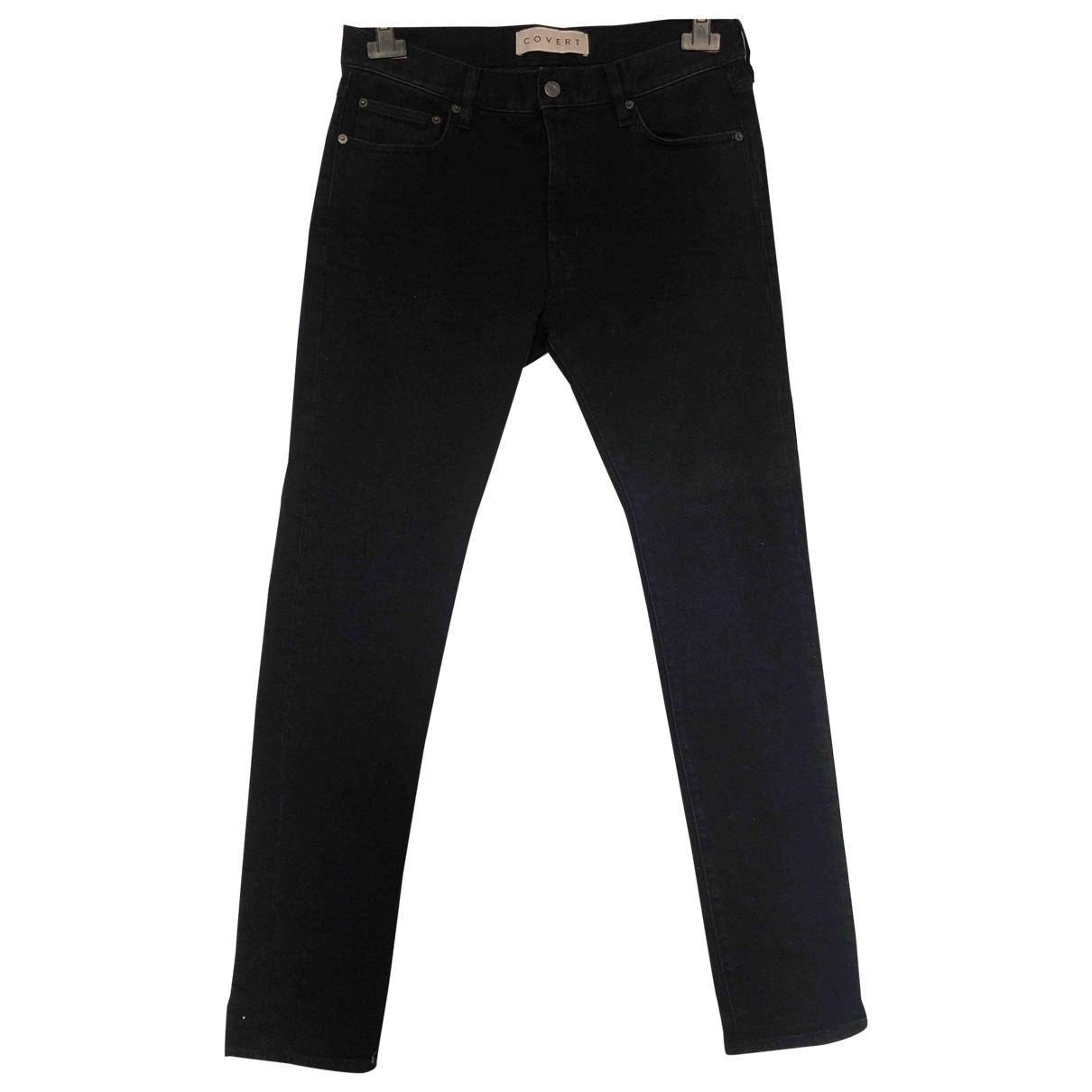 Non Signé / Unsigned \N Black Cotton Jeans for Men 34 US