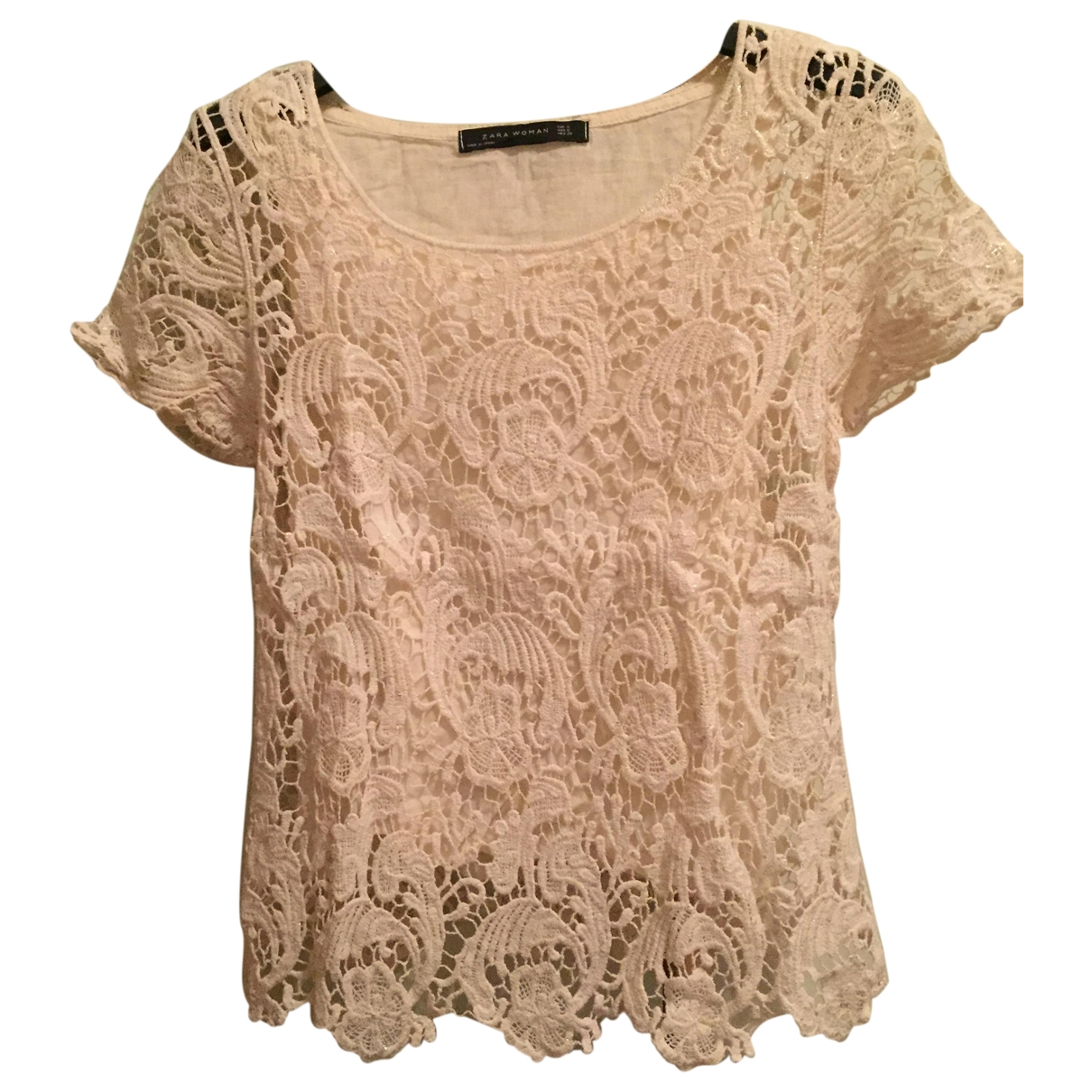 Zara \N Beige Cotton  top for Women S International