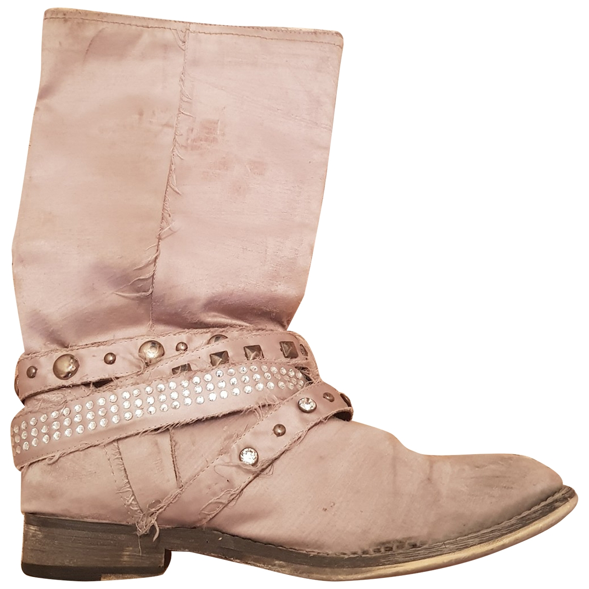 Non Signé / Unsigned \N Grey Cloth Boots for Women 38 EU
