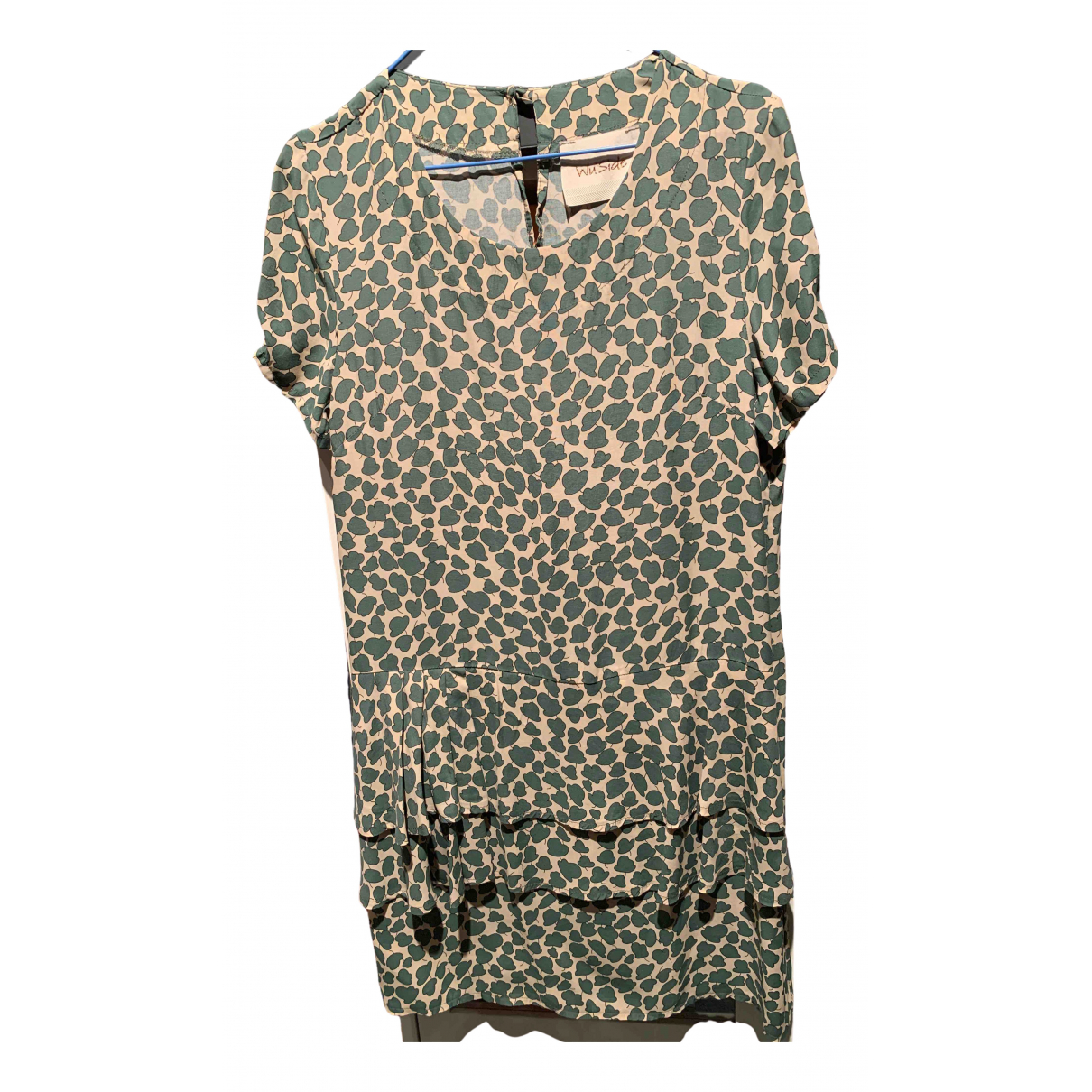 Non Signe / Unsigned \N Kleid in  Gruen Synthetik