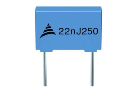 EPCOS 2.2μF Polyester Capacitor PET 40 V ac, 63 V dc ±5%, Through Hole (750)